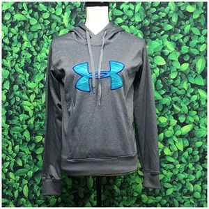 Under Armour grey/teal hoodie